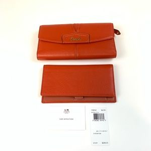 NWT NEW Coach Wallet With Checkbook Trifold Ashley